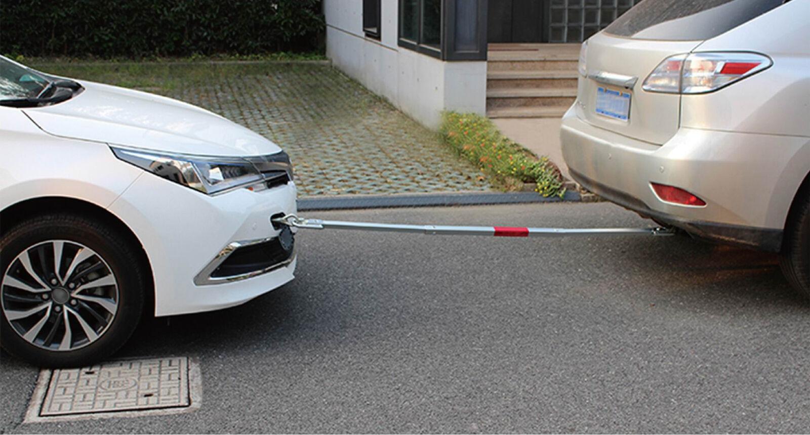 Tech Craft KFZ Abschleppstange 2t PKW 2000kg Pannenhilfe Warnfahne Zugstange