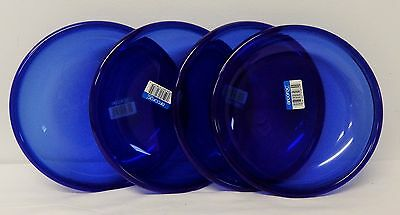 Free shipping – NEW – Set of 4 Soup Plates – Cobalt Blue – Arcoroc – France