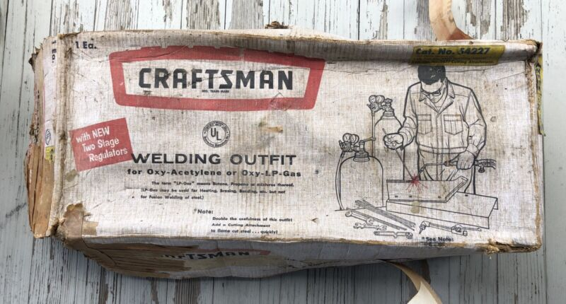 Vintage Craftsman Oxy-Acetylene Welding Outfit 54227 Includes 624.54741 Torch