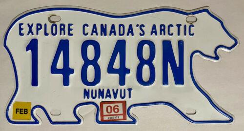 2006 NUNAVUT Canada Polar Bear License Plate NU - #14848N