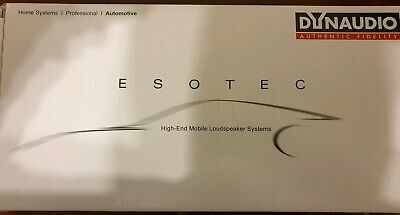 DYNAUDIO ESOTEC SYSTEM 342 High end car audio 3 way component speaker...