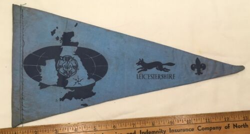 1957 BP Centenary Jubilee Leicestershire Pennant Used