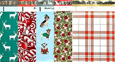 20 Designer Printed Poly Mailers 10x13 Shipping Envelopes Bags Christmas Mix Pak
