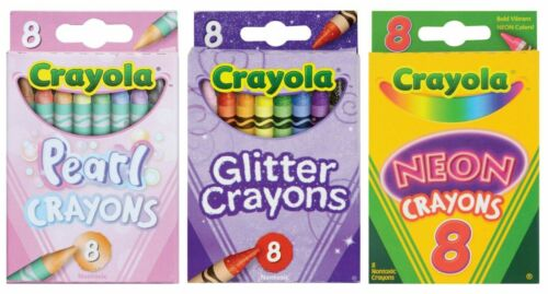Crayola Crayon BUNDLE in Pearl, Glitter & Neon Colors 24 Crayons & FREE SHIPPING