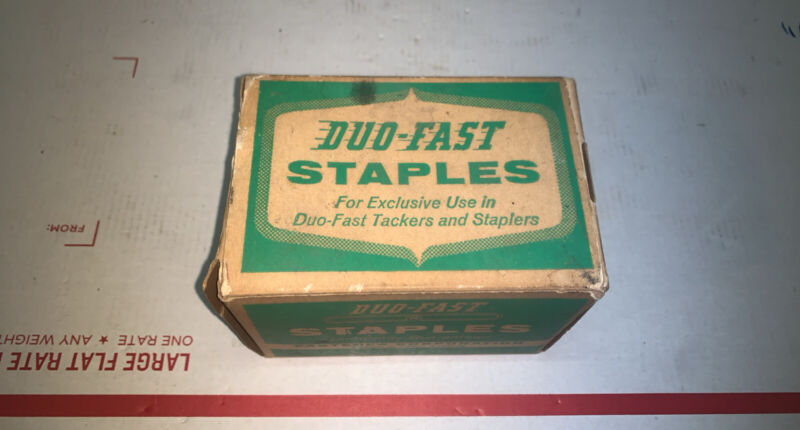 "Vintage NEW OLD STOCK 9/16"" Duo-Fast Staples 5000 count No. 5018-C"