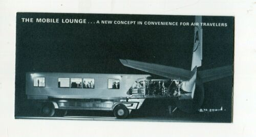 Vintage CHRYSLER Brochure Mobile Lounge for loading Airplanes TWA Dulles Airport