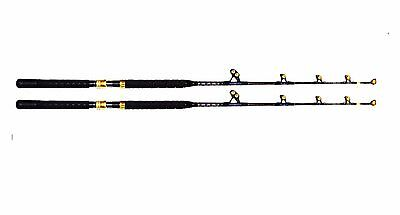 OKIAYA STANDUP TROLLING RODS 80-130LB(2PACK)VENOM-PRO CARBON BLANK/PAC BAY GUIDE