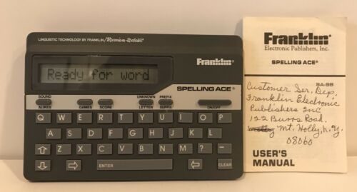 Franklin Spelling Ace Merriam Webster Spell Blaster II Dictionary SA 98A