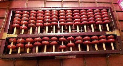 Vintage Diamond Brand Wooden Abacus w/ Brass Hardware