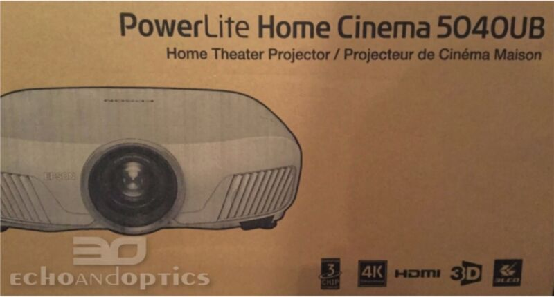 Epson 5040UB PowerLite Home Cinema 3LCD Projector with 4K Enhancement and HDR