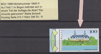 Saubere Kante (1996 Bund Mi.Nr. 1849 Abart Dachkante sauber postfrisch)