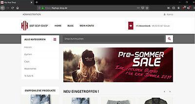 HipHop-Shop.de Onlineshop zu verkaufen (Dropshipping, Lager, Tickets)