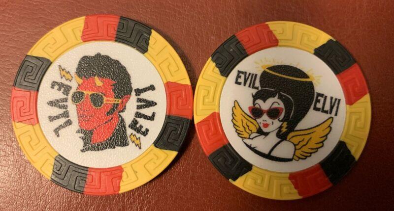 2019 Krewe Of Rolling Elvi Halloween Poker Chip