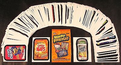 2015 Topps Wacky Packages Series 1 COMPLETE BASE SET of 110 stickers nm +wrapper