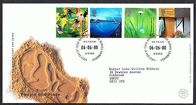 People and Place 2000 First Day Cover - SG2148 to SG2151 Edinburgh Cancel