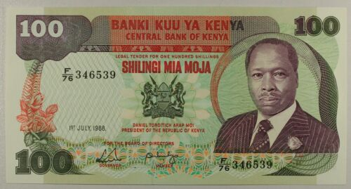 Kenya, 100 shillings, 1988... P-23f... GEM UNC