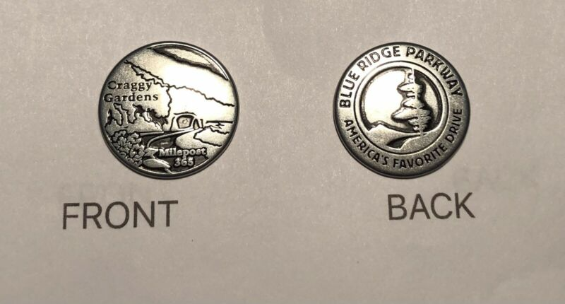 Blue Ridge Parkway NPS Collector Token - Craggy Gardens MP 365- 1 Token