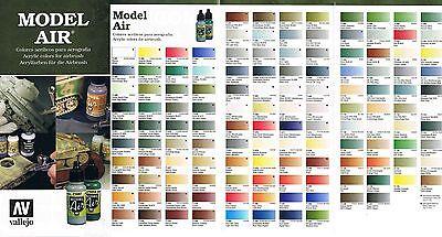 Vallejo Model Air 17ml (100ml=14,12?) wählen Sie aus 113 Airbrush Farben aus!