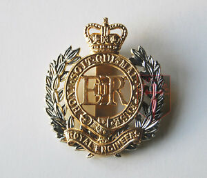 New-Official-Royal-Engineers-RE-CAP-BADGE-Beret-Badge-British-Army