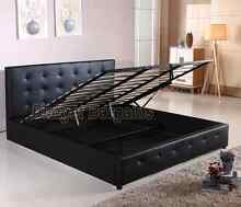 Bravo Gas Lift Storage Bed Frame King or Queen Black or White New Hoppers Crossing Wyndham Area Preview