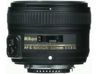 NIKON LENS FX 50MM F /1.8G