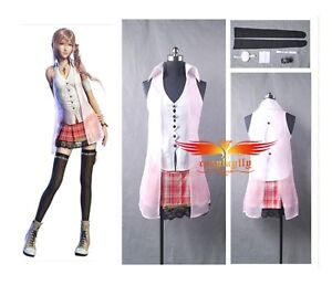Final-Fantasy-XIII-FF-13-Serah-Farron-Cosplay-Costume