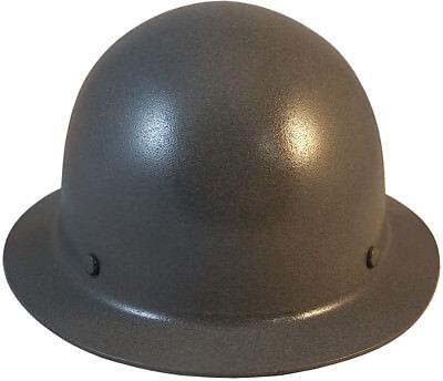 Msa Gun Metal Skull Gard Fiberglass Fb Hard Hat Ratchet Or Pin Lock Susp