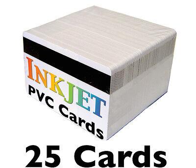 25 Inkjet Pvc Cards W Hico Mag Stripes - For Epson Canon Inkjet Printers