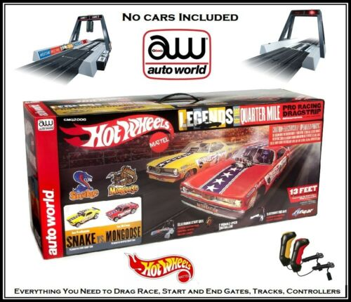 Auto World Hot Wheels Drag Strip With Start and End Gate NO CARS Runs on AFX, AW