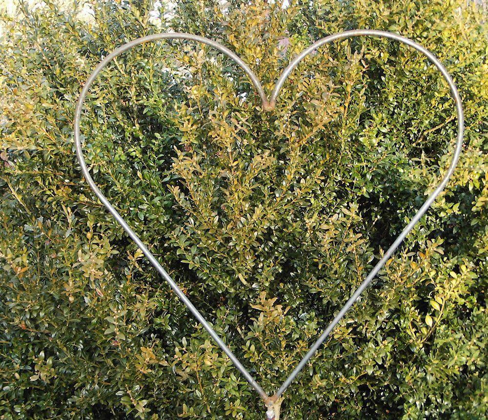 Herz zum Stecken Edelrost Gartendeko Gartenstecker Metall Rost