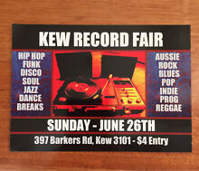 Kew Record Fair - JUNE 26th 40,000 Records, Vinyl, LPs, 1000's of CDs Kew Boroondara Area Preview