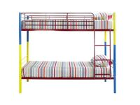 rainbo metal bunk bed with same day delivery RRP £215