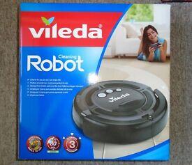 VILEDA Cleaning Robot Vacuum Cleaner Rechargeable Cordless Bagless Hair Dust Dog Pet Floor Carpets