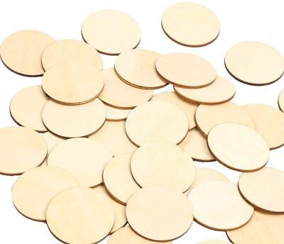 2 Inch Wood Circles 50pcs Unfinished Round Discs Blank Wooden Cutout Slices - Wood Slice