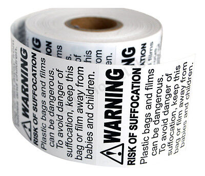 Suffocation Warning Labelsstickers 2 X 2 - Fba Approved - 1 Roll Of 500