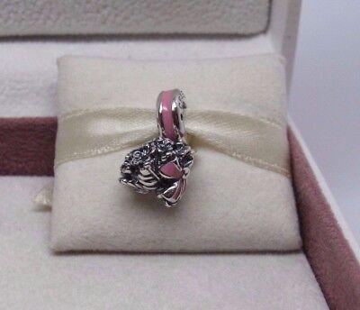 New w/Box  Pandora Pink Floral Bouquet Charm 791106EN24Breat Cancer - Breat Cancer Awareness