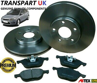 FORD FOCUS MK2 FRONT BRAKE DISCS AND PADS SET PETROL DIESEL 04 TO 11 PREM QUAL