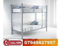 METAL BUNK BED WITH 2 SEMI ORTHOPAEDIC MATTRESS AVAILABLE AT LOW PRICE RYAS