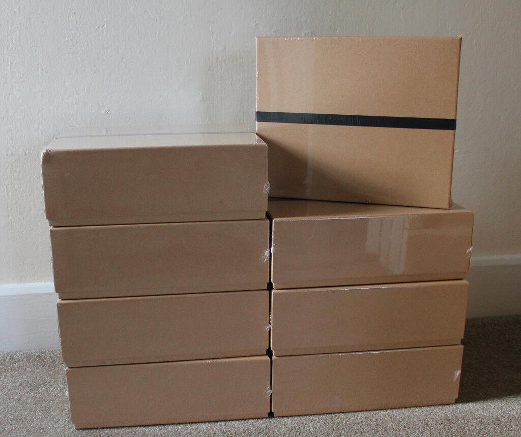 8 Paperchase Brown Kraft Tech Gift Box Boxes Storage