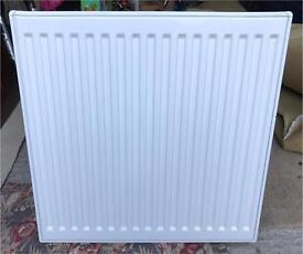 White convector radiator double walled 600mm x 600mm