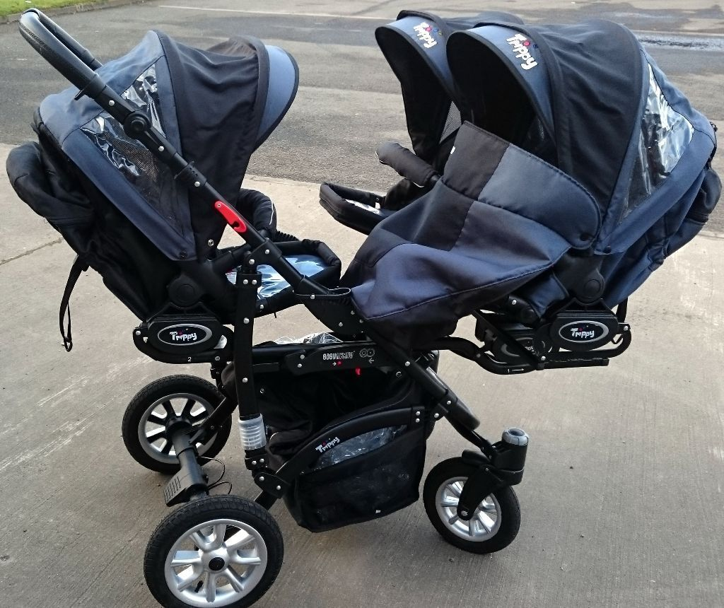 Swivel Baby Car Seat >> Baby Active Trippy Triple Pushchair in As New Condition. | in Bedlington, Northumberland | Gumtree