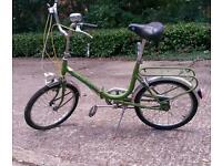 Vintage foldable bike ready to ride