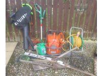 Various items of gardening equipment