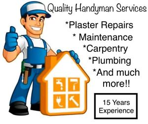 ✓ First Choice •Handyman •Plumber •Plaster Repairs •Carpenter