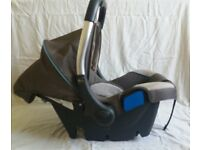 Silver Cross rear facing infant car seat.