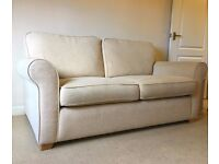 Park Furnishers two-seater Sofa Bed and Arm Chair, Cream, excellent quality