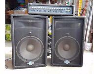 Carlsbro Mixer Amp and 2 Phonic Speakers