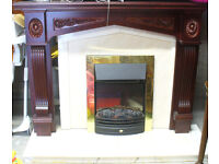 FIREPLACE COMPLETE WITH SURROUND HEARTH & FIRE