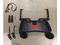 Lascal Maxi buggy board with uncut connectors, extensions and safety / storage strap
