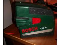 Bosch pcl20 self- levelling cross line laser level.